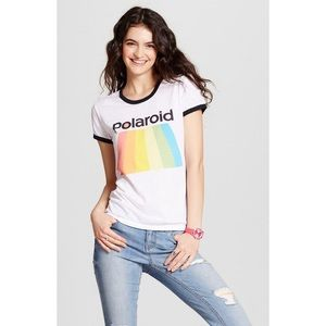 Mighty Fine Polaroid Graphic Ringer Tee Shirt